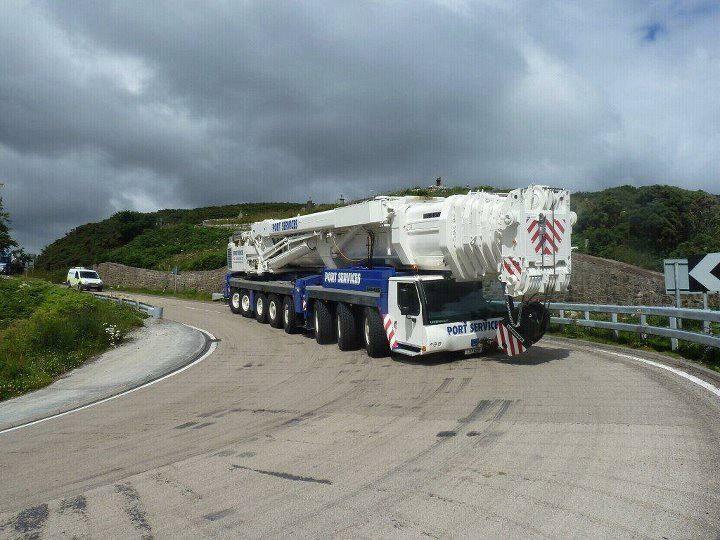 Photo: Port Services At scrabster - 500 Tonne Crane