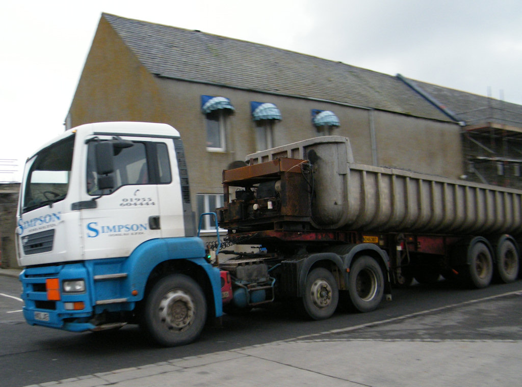 Photo: Simpson Contractors Vehicle At Wick Harbour