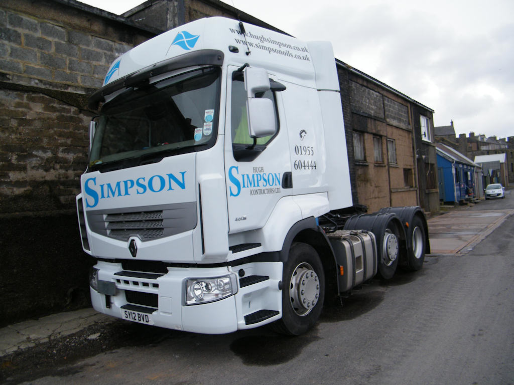 Photo: Simpson Vehicle At Wick Harbour