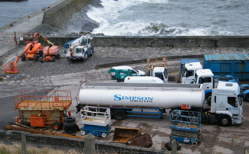 Photo: Simpsons Vehicles At Wick Harbour