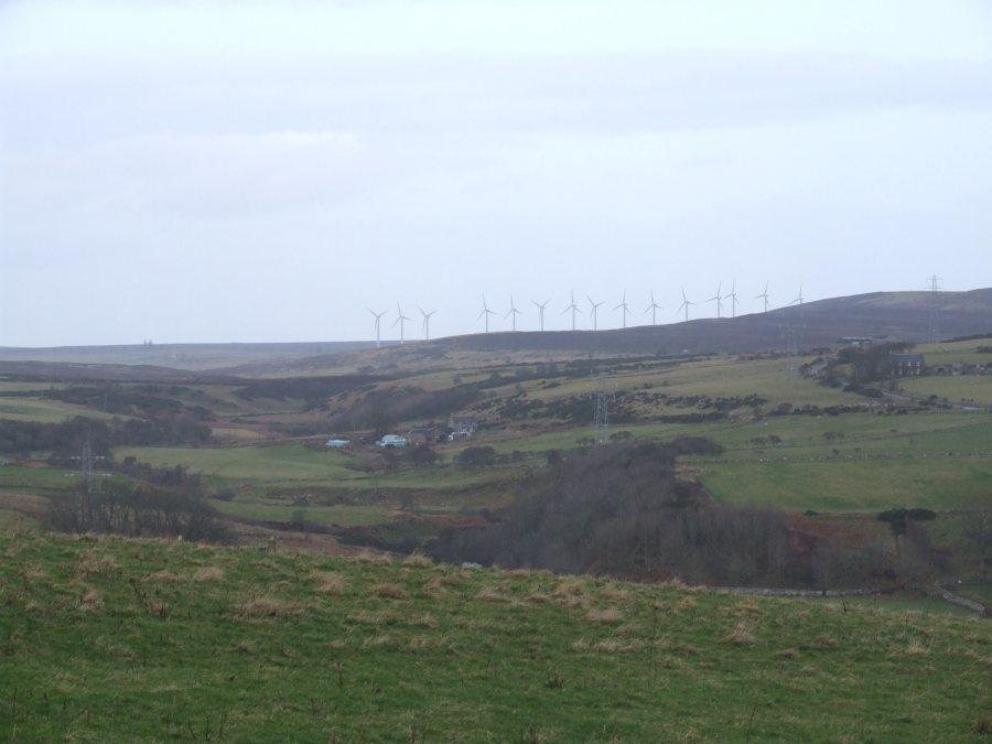 Photo: Buolfruich Wind Farm, Dunbeath From A99 - Part Zoom