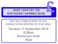 Budget Consultation Meeting At Wick
