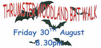 Bat Walk Thrumster 30th August 8.30pm