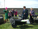 Bower School Children Gardening with New Equipment
