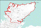 Caithness and Sutherland map