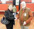 Gillian Coghill new councillor for Landward Caithness congratulated by ex-councillor Robert Coghill