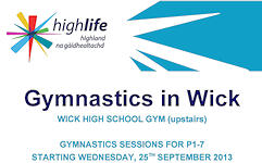 Gymnastics in Wick for P1 - P7