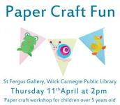 Paper Craft Fun 2.00pm