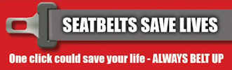 Wear a seat belt to save a your life
