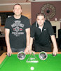 Bruce Honeyman and Ryan Carter -winners of the Bfest Pairs snooker competition 2014