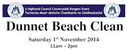 Dunnet Beach Clean 1st November 2014