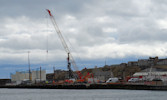 Heavylift Pad Contruction underway at Wick harbour