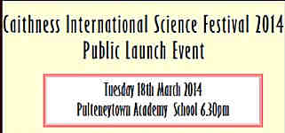 Launch Event Caithness Science Festival 2014