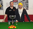 Captains cup wick and distric Pool league winner Ryan Carter and runner up George Smith