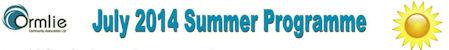 Ormlie Summer Programme 2014