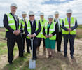 Turf Cutting for new Nuclear Archive Centre near Wick airport.
