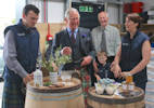 Duke of Rothesay visits Dunnet Bay Distillery