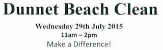 Dunnet Beach Clean 29 July 2015