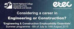 Summer Employment Programme at North Highland college