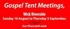 Gospel Tent Riverside Wick