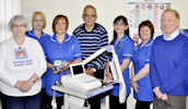 Caithness Heart Support Group hand over more equipent.
