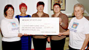 Cheqe from Wick Medical Centre presented to Caithness Heart Support group