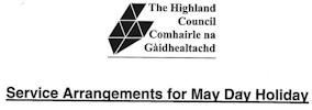 May Day Highland Council 2015