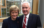 Dr Paul Monaghan with Nicola Sturgeon