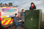 A Thurso broadband cabinet at Thurso ready for roll out