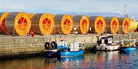 Cable Drums at Wick Harbour