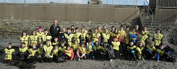 Mont Plesant pupils beach clean