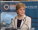First Minister Nicola Sturgeon see turbines bound for Pentland Firth