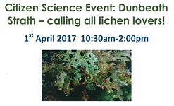 Citizen Science Event: Dunbeath Strath - calling all lichen lovers!