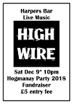 Live music fundraiser for Wick Street Party at Hogmanay