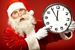 Santa Clock ticking for last minute shoppers