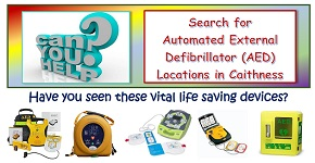 Find the Defibrillators in Caithness