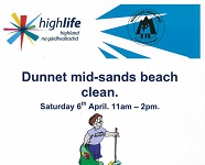 Beach clean at Dunnet