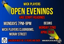 Wick Players Open Evenings