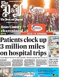 Press and Journal 27th april 2019 - mileage by Caithness patients to Raigmore Hospital in Inverness