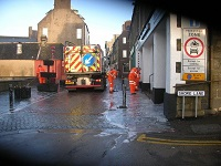 big clean up for Wick town centre underway