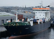 MV Helliar on MV Hamnaveregular route on Pentand Firth 13th - 26 January 2020