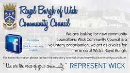 Wick comunity council looking for new members