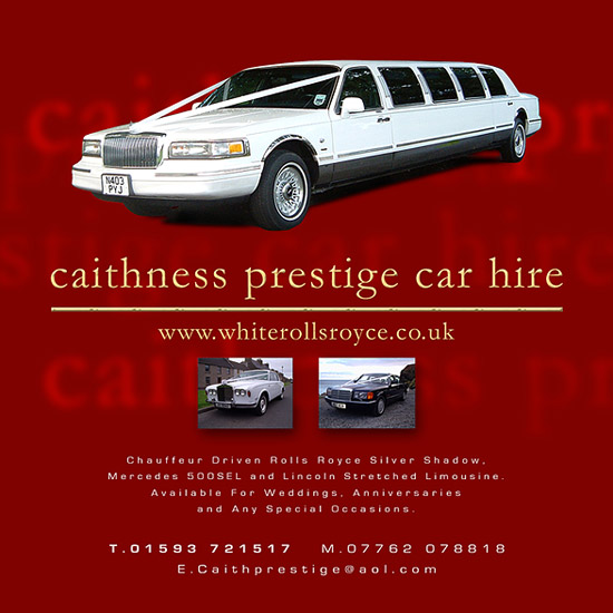 Caithness Prestige Car Hire Advert