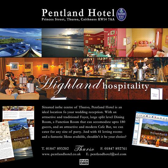 Pentland Hotel Advert