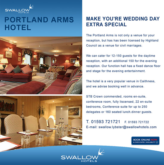 Portland Arms Hotel Advert